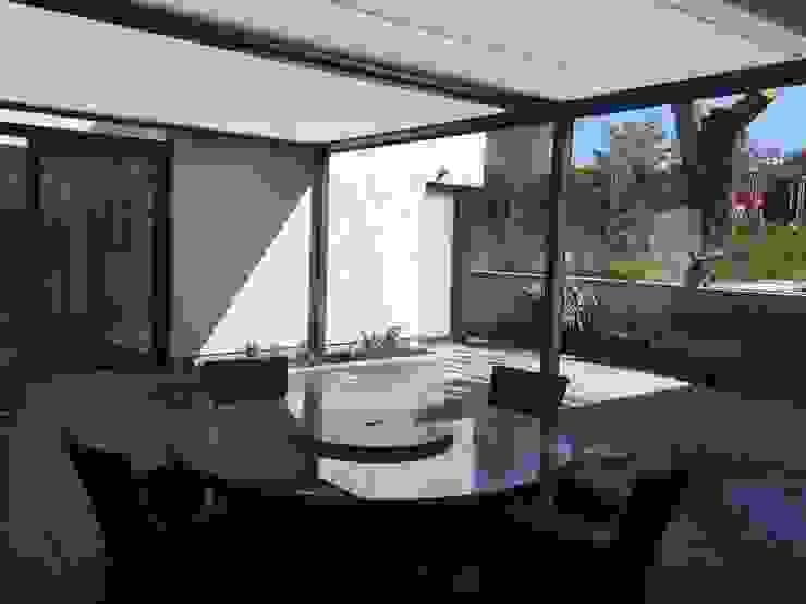 Cubola Awning Modern Terrace by Flybird Installations Ltd Modern Aluminium/Zinc