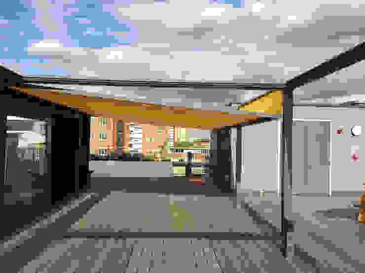 Roof Top Office Area Modern Terrace by Flybird Installations Ltd Modern