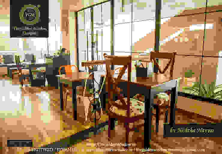 Bistro 360, Delhi: modern  by The Golden Window Designs,Modern