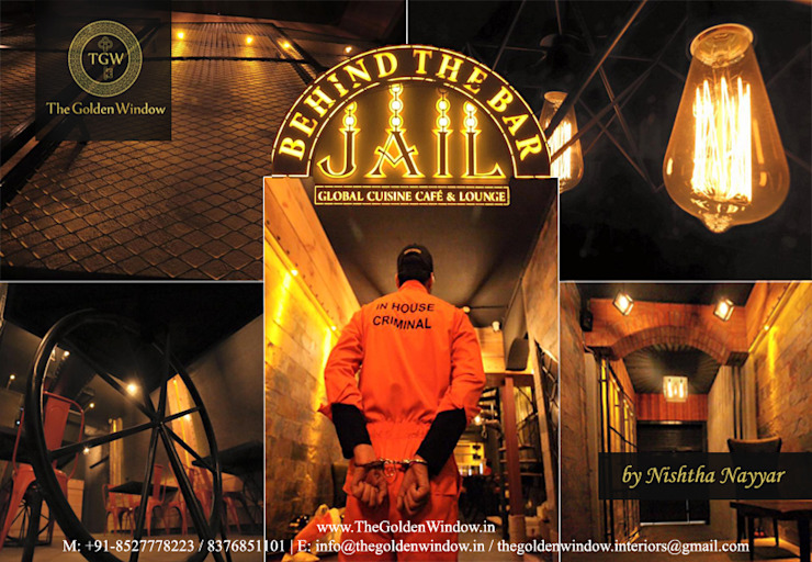 Jail—Behind The Bar: industrial  by The Golden Window Designs,Industrial