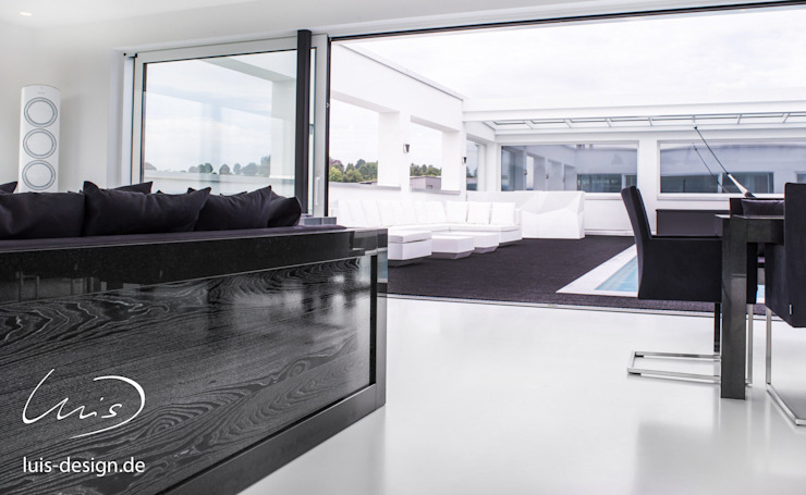 luxury living room by Luis Design Modern Marble