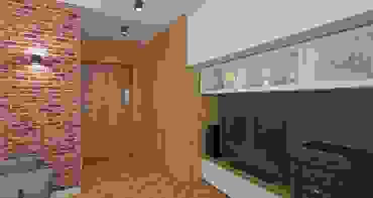 AIN projektowanie wnętrz Salones de estilo escandinavo