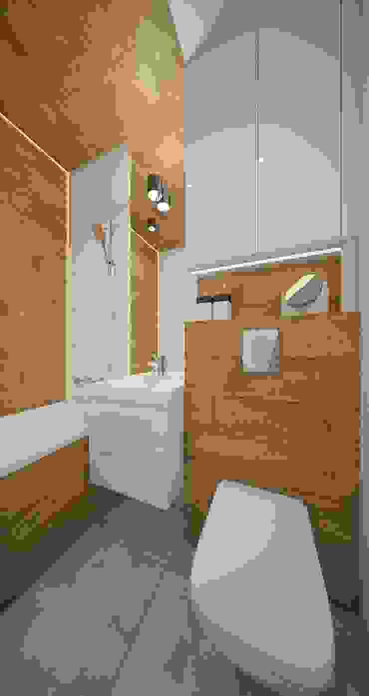 AIN projektowanie wnętrz Baños de estilo escandinavo