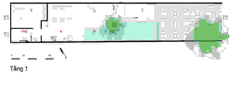 Bản vẽ thiết kế tầng 1 nhà ống 4 tầng lệch tầng. bởi Công ty TNHH TK XD Song Phát Châu Á Đồng / Đồng / Đồng thau