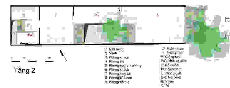 Bản vẽ thiết kế tầng 2 nhà ống 4 tầng lệch tầng. bởi Công ty TNHH TK XD Song Phát Châu Á Đồng / Đồng / Đồng thau
