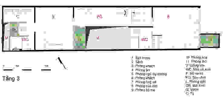Bản vẽ thiết kế tầng 3 nhà ống 4 tầng lệch tầng. bởi Công ty TNHH TK XD Song Phát Châu Á Đồng / Đồng / Đồng thau