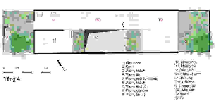 Bản vẽ thiết kế tầng 4 nhà ống 4 tầng lệch tầng. bởi Công ty TNHH TK XD Song Phát Châu Á Đồng / Đồng / Đồng thau