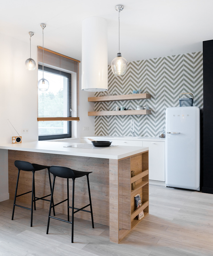 formativ. indywidualne projekty wnętrz Built-in kitchens Wood Wood effect