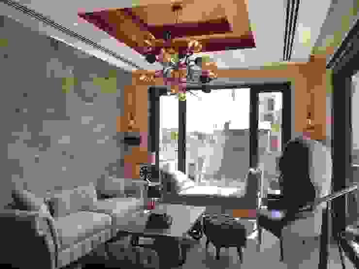 Burst Chandelier in Modern Living Room Jainsons Emporio Modern living room Glass Amber/Gold