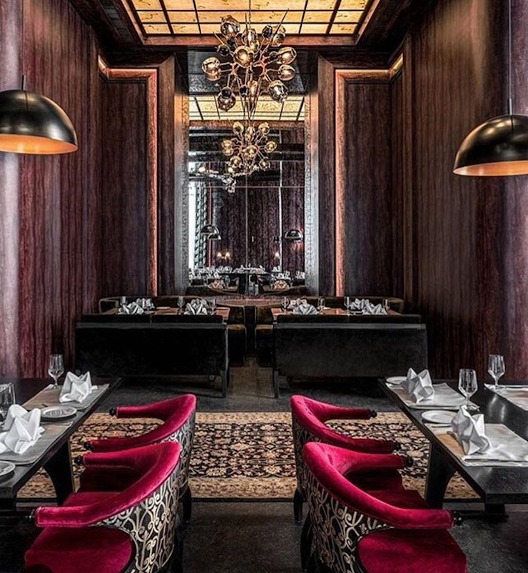 Hemant Oberoi Restaurant - Lighting Eclectic style bars & clubs by Jainsons Emporio Eclectic Aluminium/Zinc