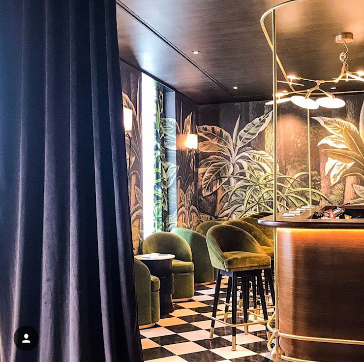 Hemant Oberoi Restaurant - Lighting Rustic style bars & clubs by Jainsons Emporio Rustic Aluminium/Zinc