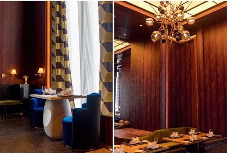 Hemant Oberoi Restaurant - Lighting Eclectic style bars & clubs by Jainsons Emporio Eclectic Glass