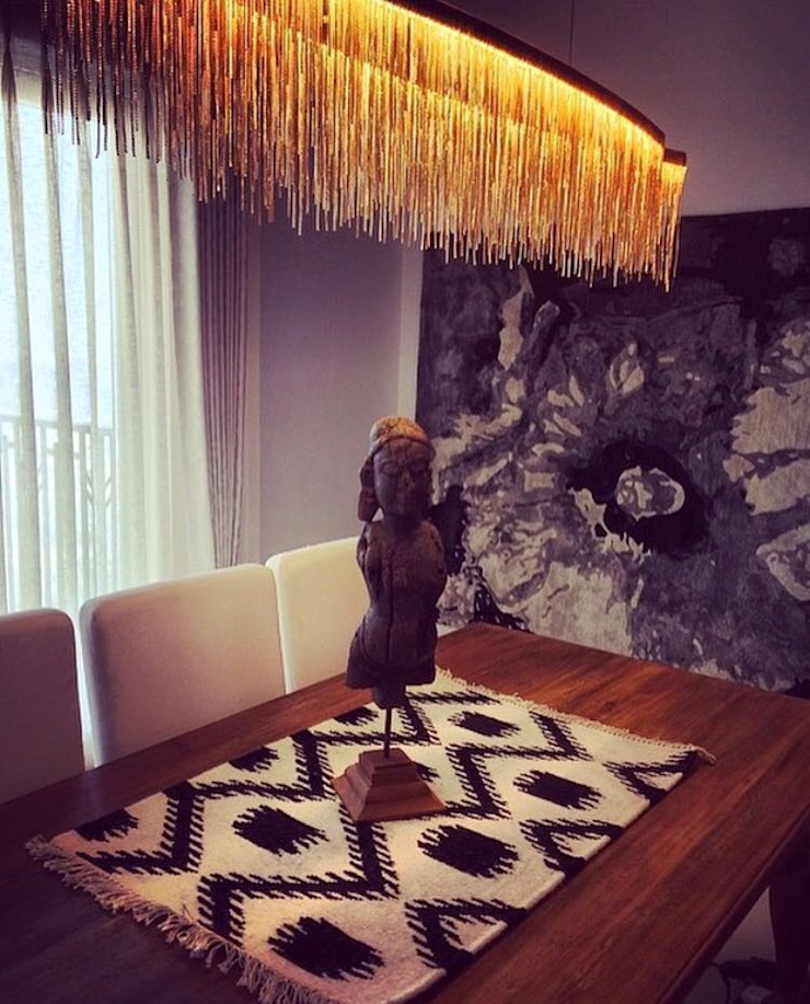 Delhi Residences - Lighting Modern dining room by Jainsons Emporio Modern Copper/Bronze/Brass