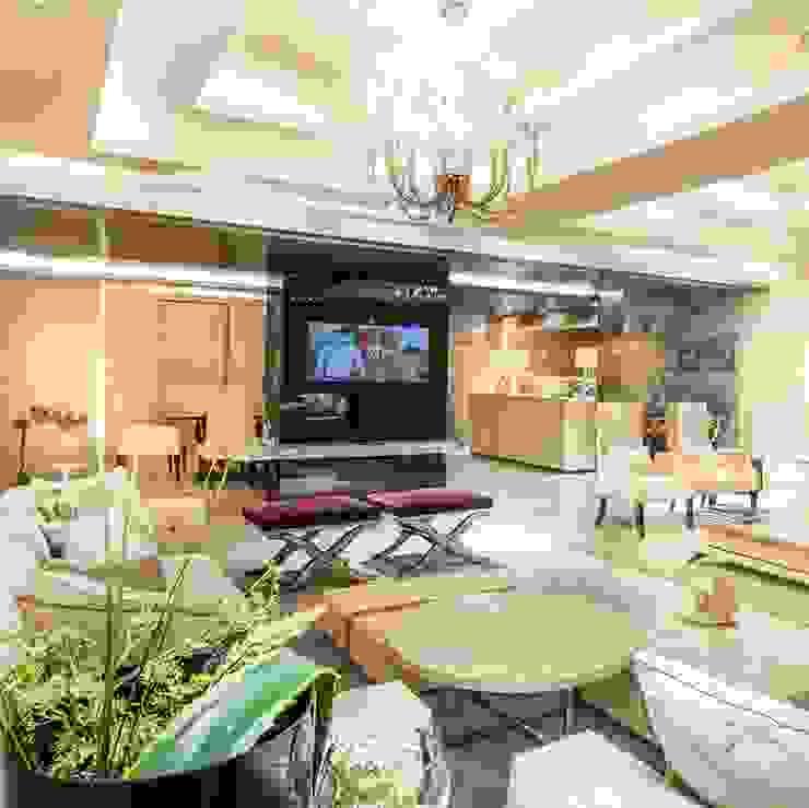 Farmhouse in Kundli - Lighting Jainsons Emporio Modern living room Copper/Bronze/Brass Amber/Gold