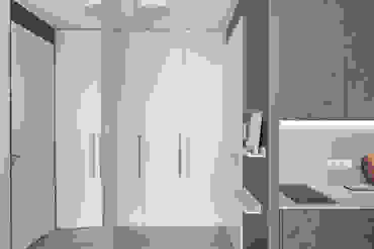 formativ. indywidualne projekty wnętrz Modern Corridor, Hallway and Staircase White
