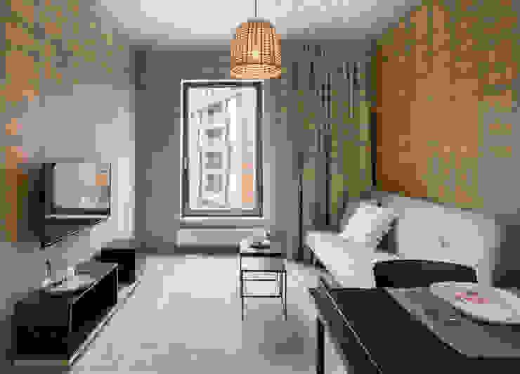 formativ. indywidualne projekty wnętrz Living room Wood effect