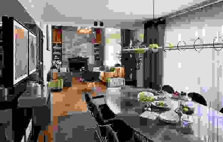 ABA HOUSE Modern dining room by Esra Kazmirci Mimarlik Modern Marble