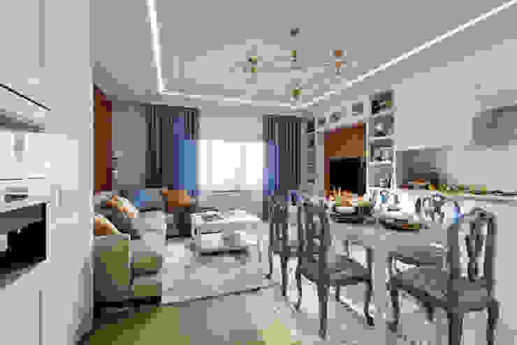 Phòng khách phong cách chiết trung bởi Clarte Design Chiết trung