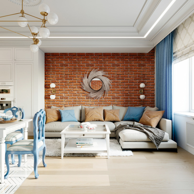 Living room by Clarte Design, Eclectic