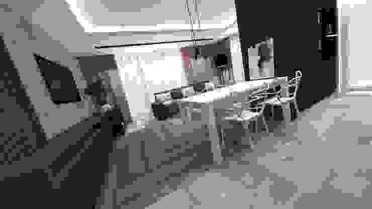 Wnętrza mieszkania w Opolu Nowoczesna jadalnia od ARCHI PL architekci SZYMON PLESZCZAK Nowoczesny
