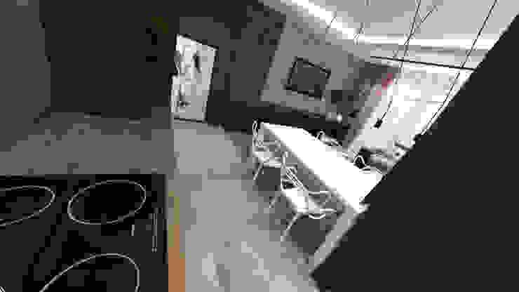 Wnętrza mieszkania w Opolu Nowoczesna kuchnia od ARCHI PL architekci SZYMON PLESZCZAK Nowoczesny