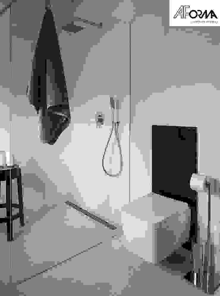 Bathroom design Modern bathroom by AFormA Architektura wnętrz Anna Fodemska Modern