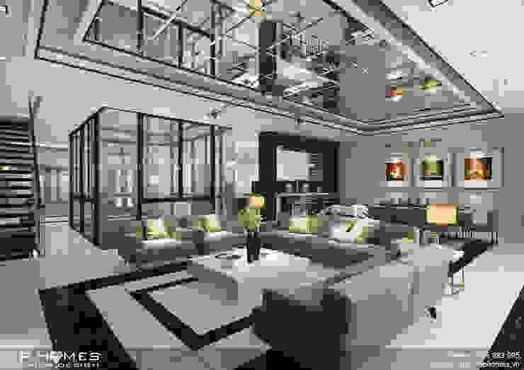 Thiết kế phòng khách biệt thự hiện đại bởi homify