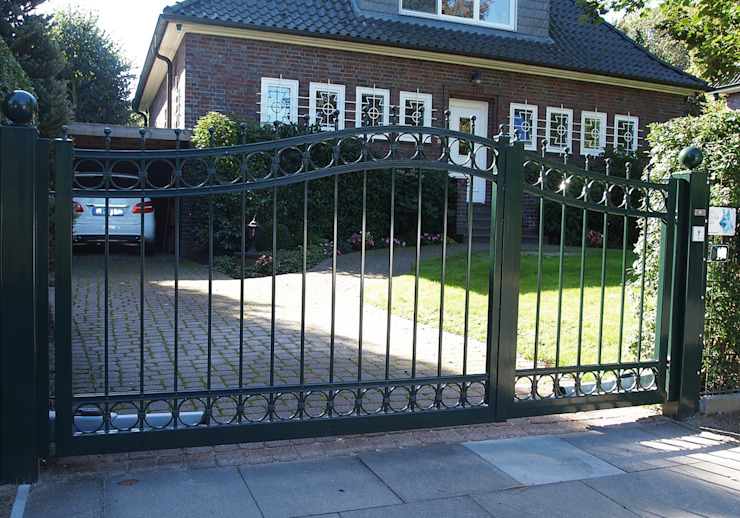 Nordzaun Front yard Iron/Steel Green