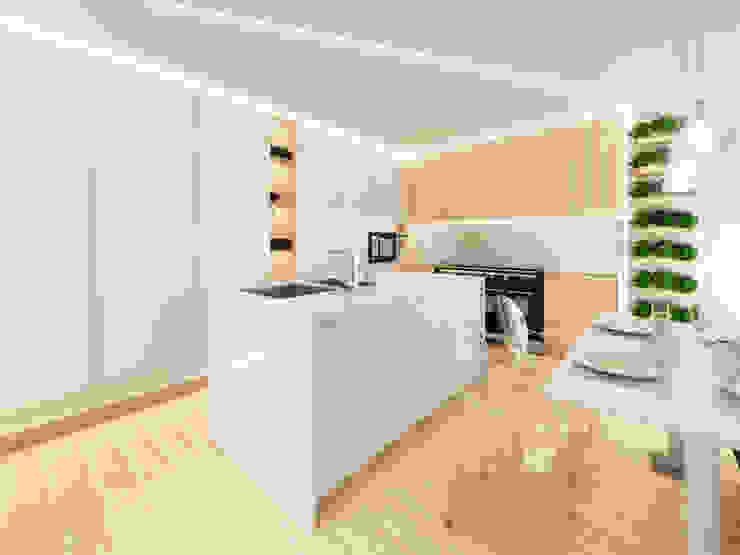 Cozinha em Vila Nova de Famalicão Cozinhas minimalistas por MIA arquitetos Minimalista MDF
