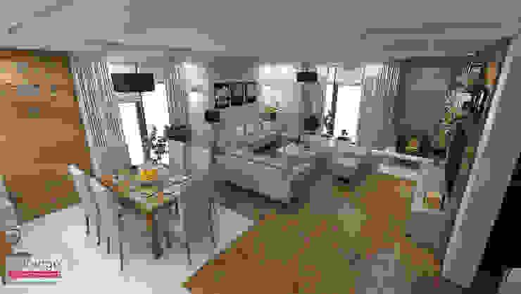Scandinavian style dining room by MARENGO ARCHITEKTURA WNĘTRZ Scandinavian