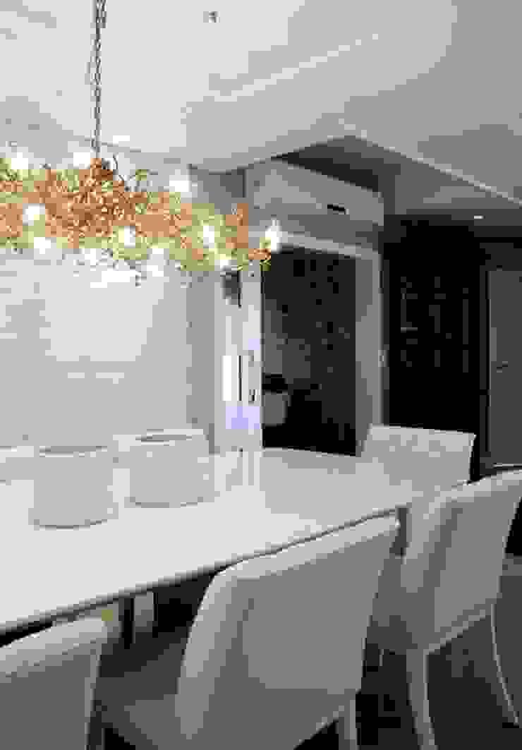 Maciel e Maira Arquitetos Ruang Makan Modern