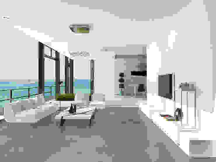 Porcelanato Concrete / Gante Edificios de oficinas de estilo ecléctico de Skyfloor Ecléctico