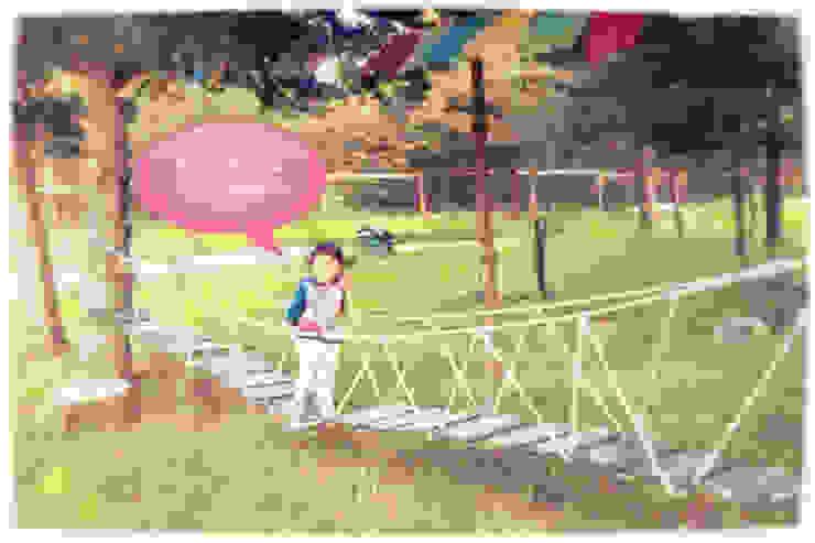 Puente colgante infantil de casa rural - Arquitectos en Coyhaique Rural