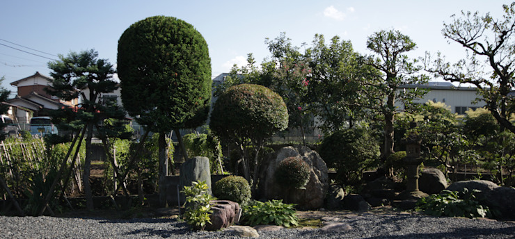 Colonial style garden by 塚野建築設計事務所 Colonial