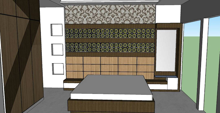 Bed Room: asian  by Interior Decorators Jaipur,Asian