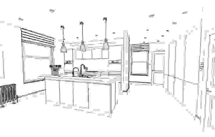 Sketch of Modular Kitchen by Interior Decorators Jaipur