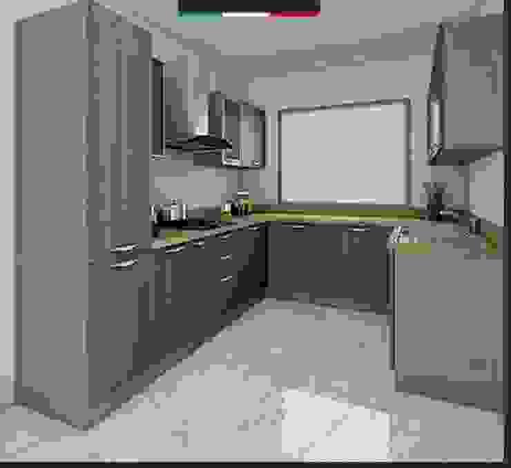 2nd Floor Kitchen Design by Interior Decorators Jaipur