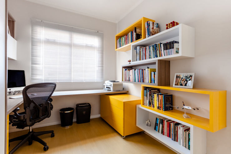 Modern study/office by Luciana Ribeiro Arquitetura Modern