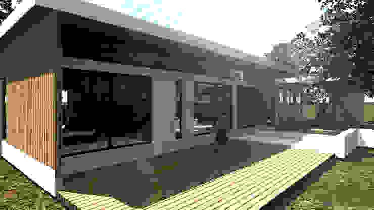 Vista Humedal Modern Garden by Dakota Austral Modern Wood Wood effect