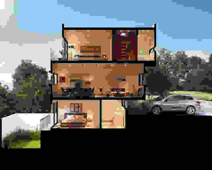Corte Perspectivado de Ambás Arquitectos Moderno