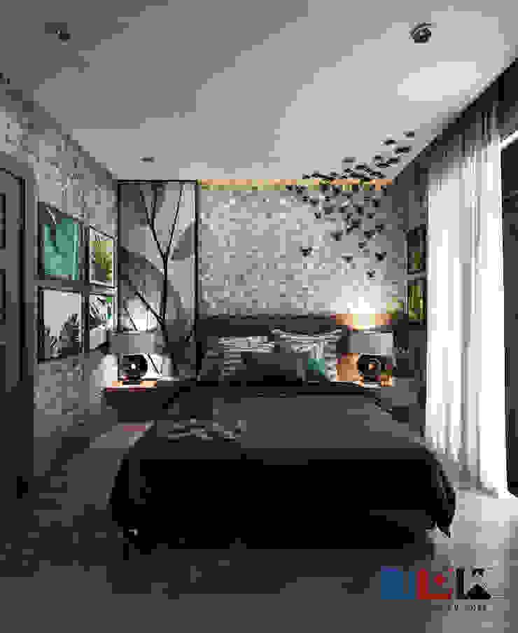 bedroom: เขตร้อน  โดย walkinterior , ทรอปิคอล ไม้ Wood effect