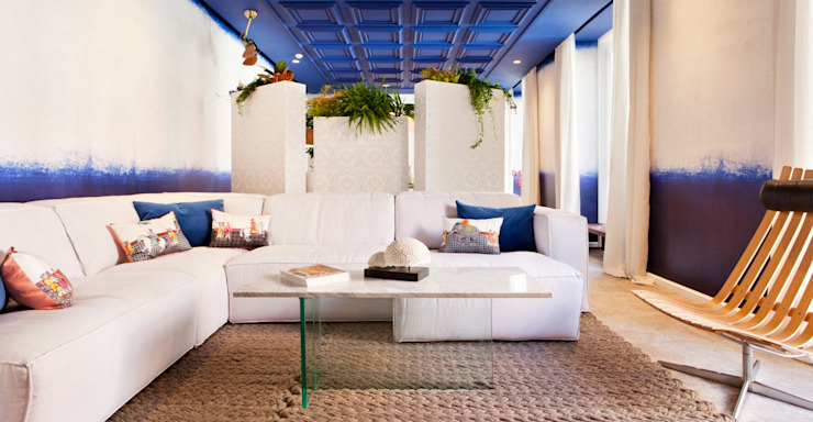 Azul Artefactum ARTEFACTUM Salones de estilo mediterráneo Azul