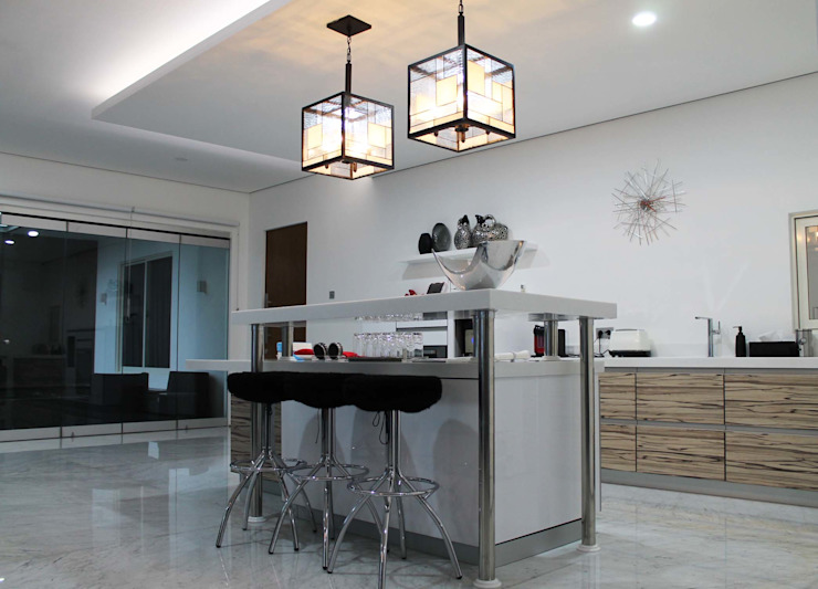 Residential_Landed_Semi-Detached House Dapur Modern Oleh daksaja architects and planners Modern