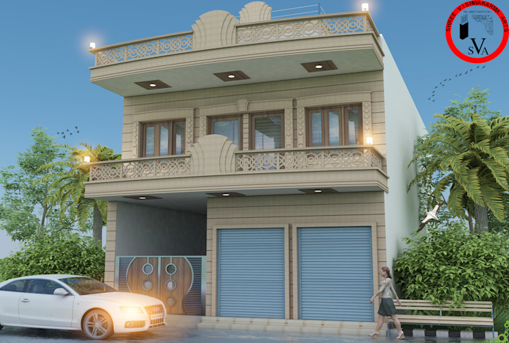 Exterior design by ART JAIL Modern Sandstone