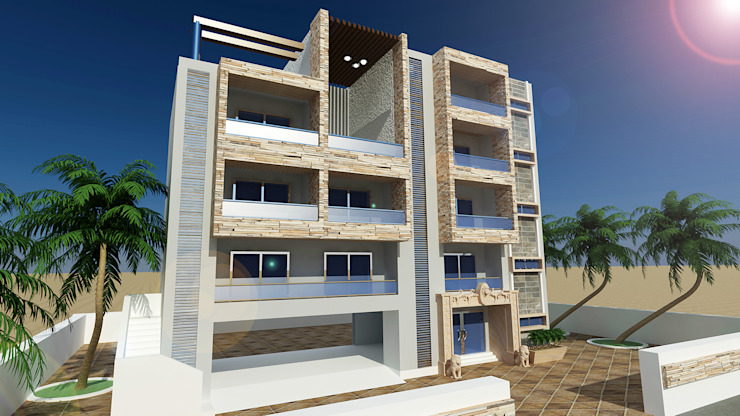 Appartment exterior design by ART JAIL Modern Concrete