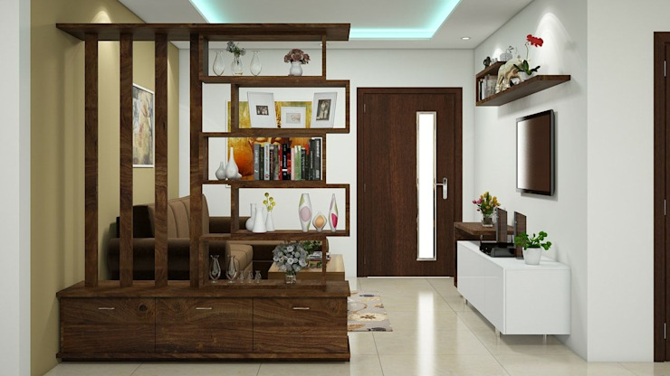 Living room by Aamuktha Designs