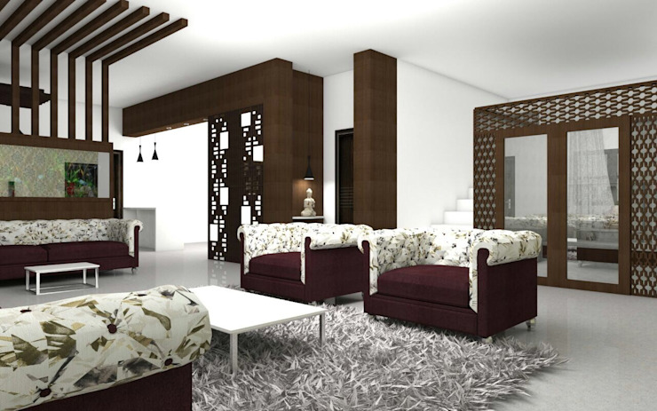 Interiors Modern living room by Kruthi Interiors Modern