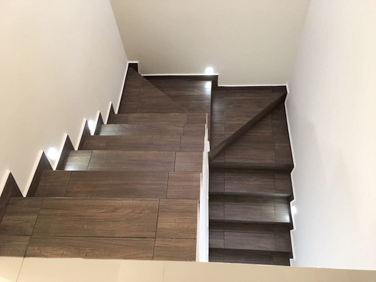 homify Stairs Tiles Wood effect