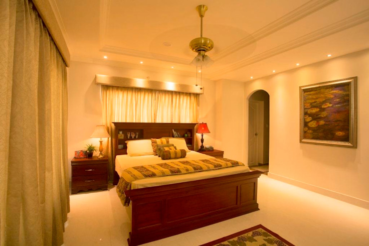 The House of Arches Mediterranean style bedroom by S Squared Architects Pvt Ltd. Mediterranean Solid Wood Multicolored