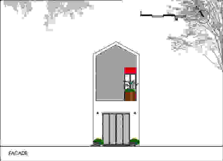 Mặt tiền ngôi nhà phố đẹp. bởi Công ty TNHH TK XD Song Phát Châu Á Đồng / Đồng / Đồng thau